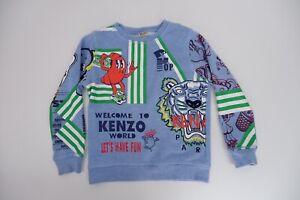 Kenzo Kids Jumper Size 128cm Age 8 Years Vgc Boys Sweatshirt