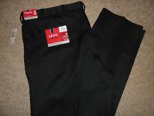 NWT IZOD BLACK SLIM FIT NO IRON DRESS PANTS SIZE 42 X 30