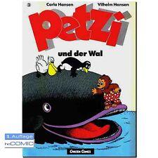 Petzi 3-Petzi e la balena 1. EDIZIONE bambini classico libro illustrato 60er