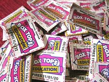 50 Box Tops Lot For Education Trimmed Free Shipping No Reserve!
