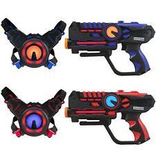Infrared Laser Tag Guns and Vests - Laser Battle Game - Pack of 2 - Blue & Red