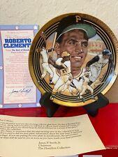 MLB Pittsburgh Pirates Roberto Clemente Limited Hamilton Collectors Plate W COA