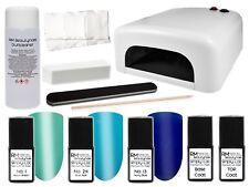 UV Nagellack Starterset Blau UV-Lampe Feile UV-Polish Shellac Gellack Nagelset