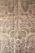 "Antique French 18th Gold Metallic & Peach Silk Exotic Fabric Panel c1750~34""X19"""
