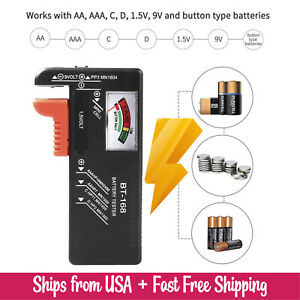 Universal Small Battery Tester for AA AAA CD 9V Button Cell Batteries Checker