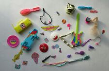 Barbie Huge Accessory 30 Piece Lot- Guitar, Skateboard, Boombox, Brushes