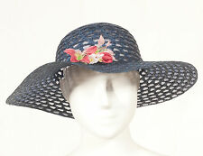'60'S FRENCH VINTAGE SUMMER HAT 57 SIZE M
