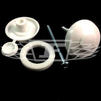 """10 x POLYCARBONATE SHEET WHITE 16mm FIXING BUTTONS 2"""" SCREW FIX PURLIN (AS8)"""