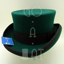CLASSIC Wool Felt Men Top Hat Coachman Topper Victorian Tuxedo | 61cm | Green