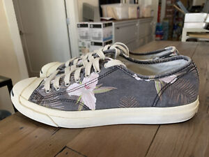 Converse Jack Purcell  Shoes Sneakers Gray/Blue floral pattern Men's Size 11