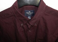 American Eagle Shirt Medium M Purple Long Sleeve Classic Fit Men's AE Outfitters