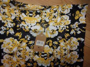 New FANFARE Yellow/Gold & Black Color One Size Yoga Capri Leggings Pants (B193)