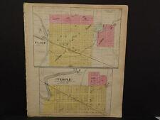 Michigan Clare County Map Clare Temple  c.1905    J14#19