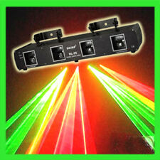 4 Lens 4 Beams 260mW Red Green DJ Laser DMX Stage Light System Party Club Show