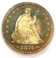 1874 Arrows PROOF Seated Liberty Quarter 25C Coin - ICG PR66 - $8,310 Value!