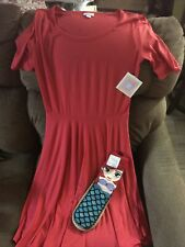 LuluRoe New Fun Melon Color Skater Dress In Med- Fun! New Disney Slipper Socks