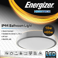 Energizer LED Flush Round Low Profile Slim Ceiling Light Fitting IP44 Waterproof