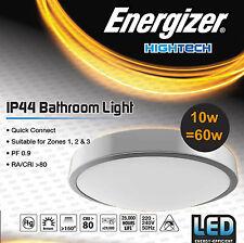 Energizer LED a filo rotondo basso profilo Slim Plafoniera RACCORDO ip44 IMPERMEABILE