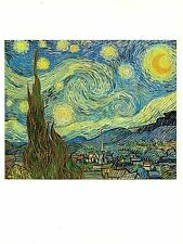 "1977 Vintage IMPRESSIONISM ""THE STARRY NIGHT"" by VAN GOGH COLOR Art Lithograph"