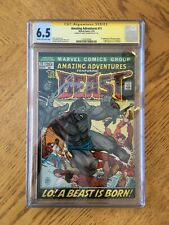 Amazing Adventures #11 Signed by Gerry Conway. 1st Beast with fur. 6.5 FN+ CGC
