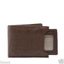 Fossil Original ML3288200 Brown Ingram Sliding 2-in-1 Leather Men's Wallet