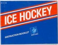 Ice Hockey Original Nintendo NES Manual