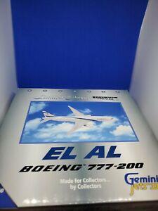 GeminiJets GJELY359 El Al Boeing 777-258ER '4X-ECA' 1/400 Scale Diecast Model