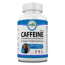 Caffeine Tablets Pre Workout Fat Loss Aid Energy Boost Slimming UK Made
