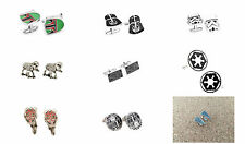 New 9-Pack Star Wars Empire Assorted Cufflinks Groomsmen Wedding Gift US SELLER