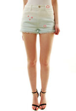 Wildfox Women's Denim with Lace Detailing Shorts White / Green RRP $ 130 BCF71