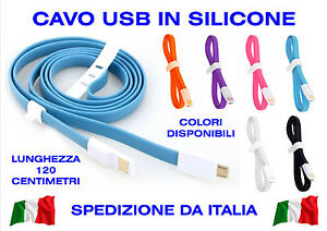 USB Cable MICRO 2.0 For SMARTPHONE Android Reload Soft Silicone