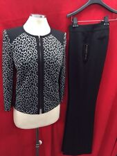 """ALBERT NIPON PANT SUIT/NEW WITH TAG/RETAIL$320/SIZE 14/INSEAM32""""/lurex dressy"""