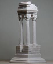 "Ancient Greek Temple Ruins Corinthian Order Columns Alabaster Statue 8.27"""