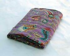 Present King or Twin MUKUT PRINT Kantha Quilt,Kantha Blanket Bedspread, Kantha