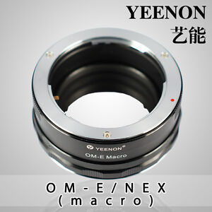 YEENON Olympus OM lens to SONY E-MOUNT  body OM-NEX Helicoid Adapter(macro)