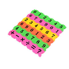 Kids 36pcs Plane Numbers Play Jigsaw Puzzle Early Educational Arithmetic Toy WBC