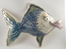Blue Sky Clayworks Kissy Fish Small Teal Heather Goldminc Wall Hanging