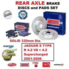REAR BRAKE PADS + DISCS SET for JAGUAR S TYPE R 4.2 V8 + Supercharged 2001-2006