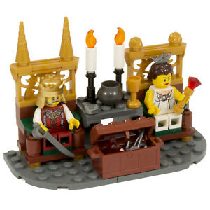 King & Queen on Thrones | Castle Kingdoms Throne | Made With Genuine LEGO