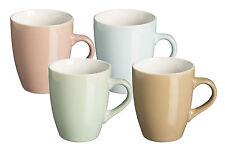 Rayware Bullet 4 Piece Coloured Mug Set Of 4 Tea Coffee Cups Stoneware Mugs