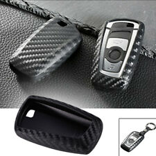 Black Carbon Fiber Style Key Fob Case Shell Cover For BMW 1 3 4 5 6 X1 X3 Series