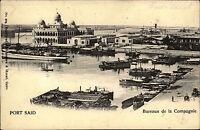 Port Said Ägypten Egypt ~1900 Bureaux de la Compagnie Firmengelände Hafen Boote