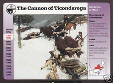 THE CANNON AT TICONDEROGA Saves Boston 1775 Revolutionary War 1996 GROLIER CARD