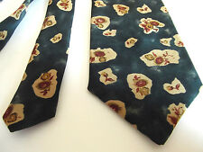 I.Q. TRADEMARK 100% SILK TIE IN TEAL/CREAM/DUSKY PINK