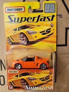 MATCHBOX 2006 SUPERFAST - OPEL ROADSTER [ORANGE] NEAR MINT VHTF CARD EXCELLENT