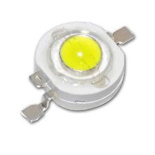 10 unidades, 1w Power LED emisor frío-blanco 12000-15000k, 110 LM, UF = 3,2v, IMAX = 350m