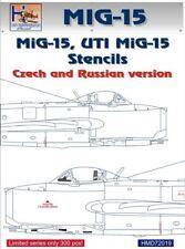 H-modèle DECALS 1/72 Mikoyan MiG-15 Stencils, russe/Czech # 72019