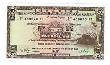 Hong Kong 5 Dollars 1975 UNC (B203)