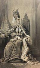 Reine Isabelle Isabeau de Bavière épouse Roi Charles VI héliogravure XIXe France