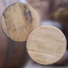 Refurbished Solid Oak Whisky Barrel Lid